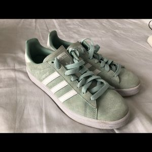 Adidas Green Suede Sneakers Size 5 Male/7.5 Female
